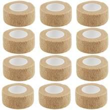 12 rolls vet wrap auto aderente envoltório coesivo bandagem animal ataduras autoadesivas para animais de estimação & entorses no tornozelo & inchaço