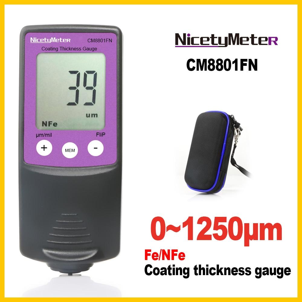 Nicety Medidor de espesor digital Instrumentos de medición de ancho Medidores de espesor Medidor de recubrimiento de película de pintura Medidor de espesor
