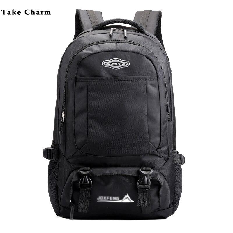 2020 Men Backpack Casual Nylon Waterproof Outdoor Travel Bag Laptop Bag Large Capacity Ladies Luggage Backpack  Black School Bag