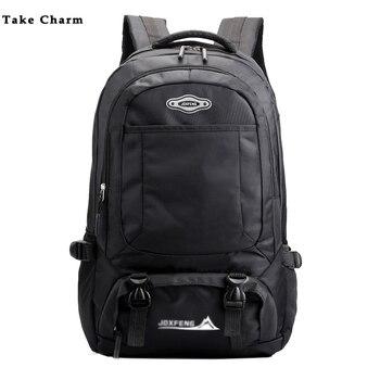 цена на 2020 Men Backpack Casual Nylon Waterproof Outdoor Travel Bag Laptop Bag Large Capacity Ladies Luggage Backpack  Black School Bag