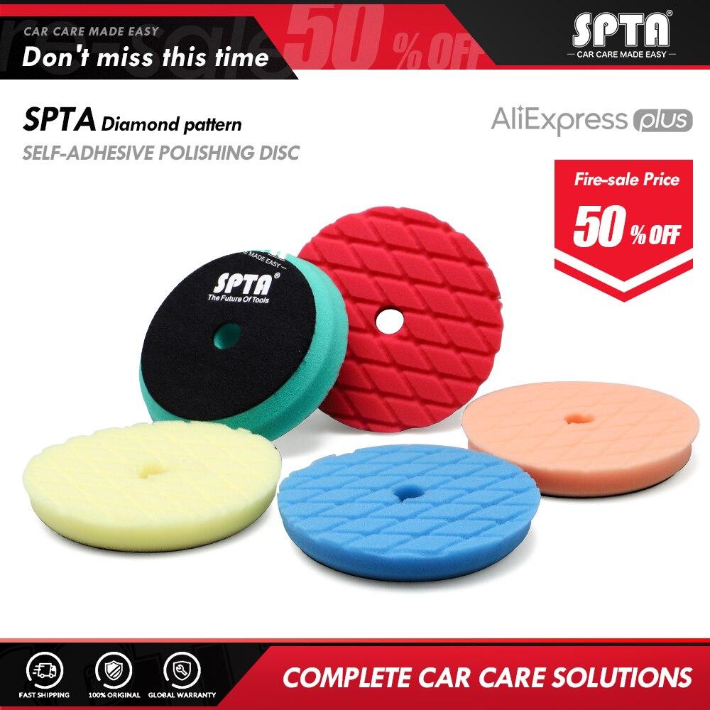Spta 6 Polegada (150mm) almofadas de polimento de corte pesado & almofadas de polimento para 5 Polegada (125mm) ro/da/ga polidor de carro de ação dupla