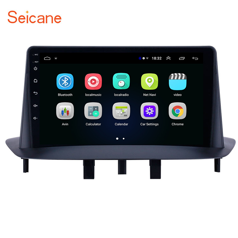 Seicane 9 inch GPS Navigation Car Radio Stereo Unit Player <font><b>Android</b></font> 8.1 for Renault <font><b>Megane</b></font> <font><b>3</b></font> 2009-2013 2014 support Carplay SWC image