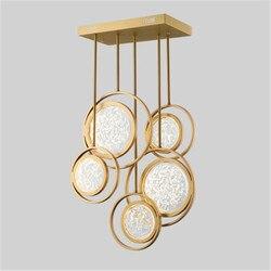 2019 nowy 5/9/12 głowy kreatywny Post nowoczesny hotel Lobby Diner Room Bar willa lampa do salonu sypialnia centrum handlowe żyrandol w Wiszące lampki od Lampy i oświetlenie na