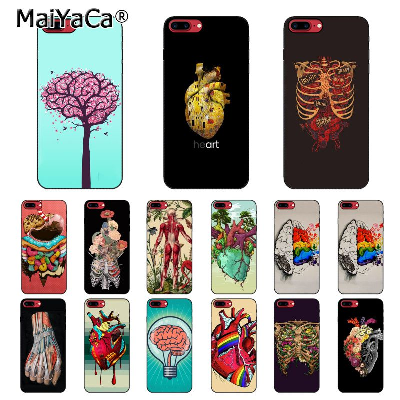 MaiYaCa Medical Human Organs Brain Meridian Kidney Art <font><b>PhoneCase</b></font> For <font><b>iphone</b></font> 11 Pro 11Pro Max 5 5Sx 6 7 <font><b>7plus</b></font> 8 8Plus X XS MAX XR image