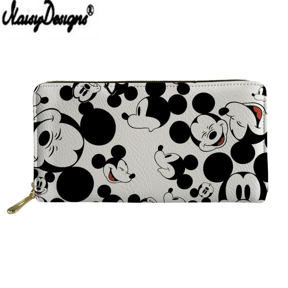 NOISYDESIGNS Cartera Mujer Mouse Print Leather Wallet For Women Trendy Fashion Female Ladies Credit Card Holder Purse Money Bags