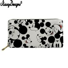 NOISYDESIGNS Cartera Mujer Mouse Print Leather Wallet for Women