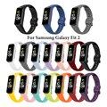 Wristband силикона для Samsung Galaxy Fit 2 SM-R220 ремешок печатных браслет сменный ремешок для наручных часов Galaxy подходит 2 Correa