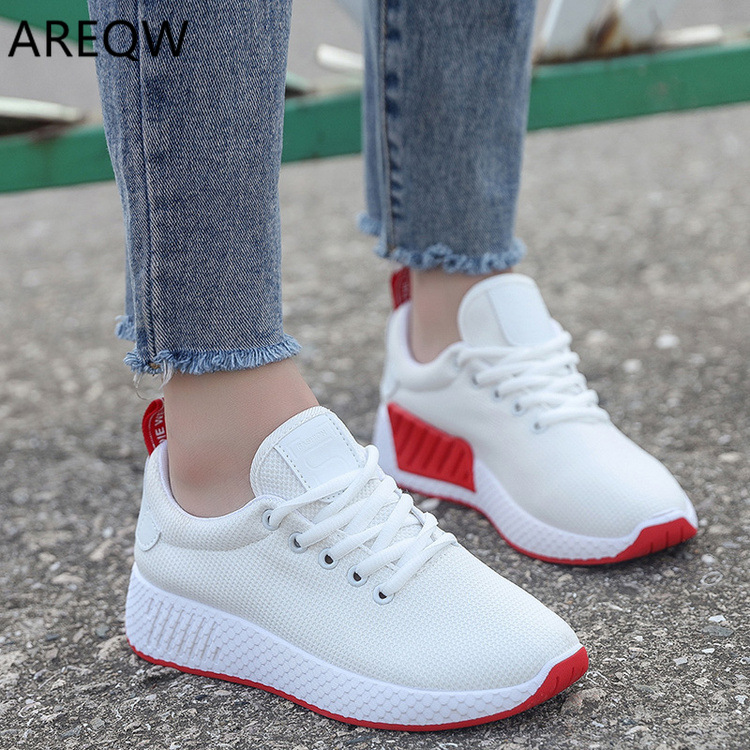 Women Shoes Breathable Air Mesh Sneakers Woman Lightweight Vulcanize Shoes White Basket Femme Spring Women Casual Shoes Krasovki