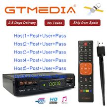 Hot DVB-S2 Freesat V7 hd With USB WIFI FTA TV Receiver gtmedia v7s power by freesat Support Europe cline CCCAM Network Sharing cccam cline europe dvb s2 freesat v7 satellite tv receiver set top box dvb s2 support powervu cccam youporn with usb wifi