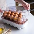 MDZF коробка для хранения яиц с 16 ячейками для хранения яиц в холодильнике  большой пластиковый контейнер для яиц  свежая коробка  кухонные пр...