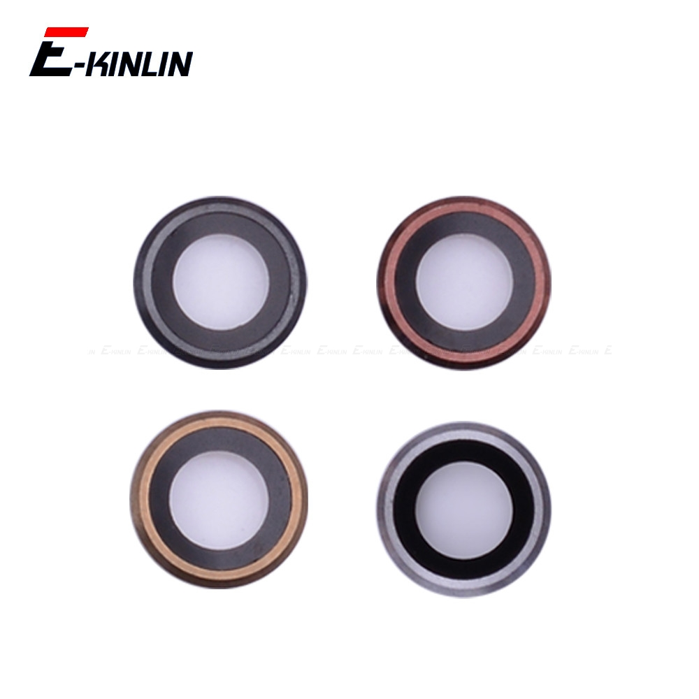 High Quality Rear Back Camera Lens Ring Bezel Frame Cover For iPhone 4 4S 5 5S SE 5C 6S 6 Plus Replacement Parts image