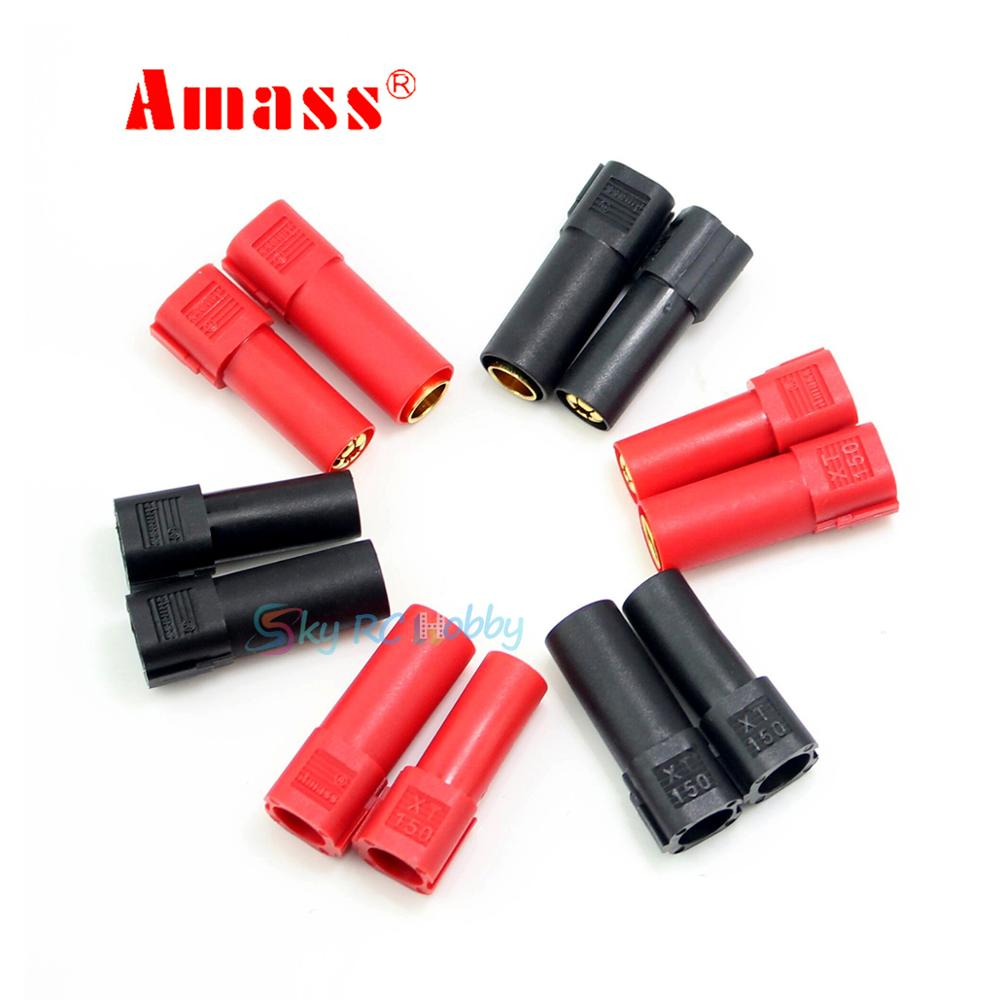 6pairs 10Pairs Amass XT150 6mm Bullet Connector Adapter Plug Set Male Female 130 High Rated Amps for RC LiPo Battery(China)