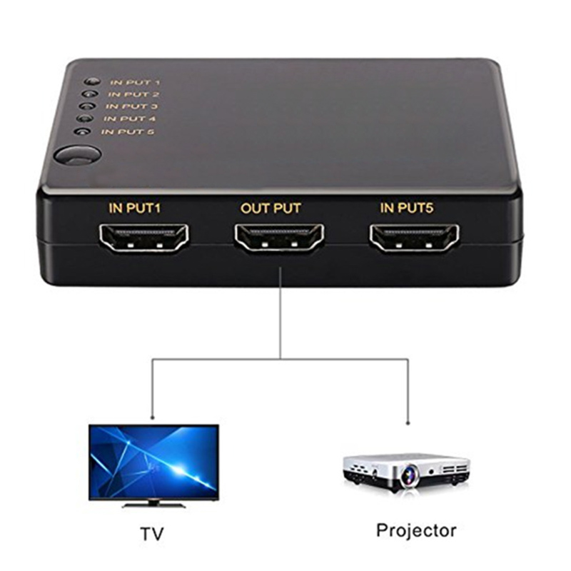 Five-in And One-out Switcher 1080P Switch With Remote Control Support Multiple Resolutions NC99