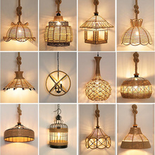 Vintage Pendant Lamp E27 Hemp Rope Iron Lampshade For Bar Shop/Coffee House Loft Indoor Lighting Cord Pendant Lights vintage wicker pendant lamp hand made knitted hemp rope iron coffee shop pendant lamps loft lamp american lamp free shipping