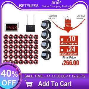 Image 1 - Retekess Restaurant Pager Call Waiter Host+4 Watch Receiver+Signal Repeater+42 T117 Call Buttons for Bar Cafe Customer Call