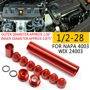 Image 5 - 11Pcs 1/2 28 5/8 24 Fuel Filters Fuel Trap Solvent Filter 1X6 For NAPA 4003 WIX 24003 6061 T6 Automobiles Filters Parts Black SR