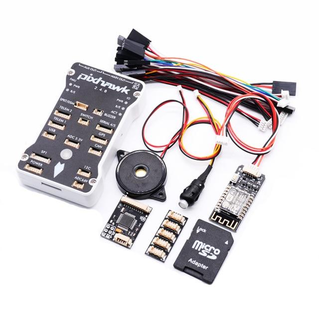 Pixhawk PX4 PIX 2 4 8 32 Bit Flight Controller RGB OLED Safety Switch Buzzer PPM I2C 4G SD
