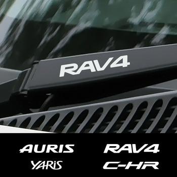 4 Uds coche ventana limpiaparabrisas pegatinas para Toyota C-HR RAV4 Yaris Land Cruiser Avalon Highlander Mirai Avensis Prado Prius