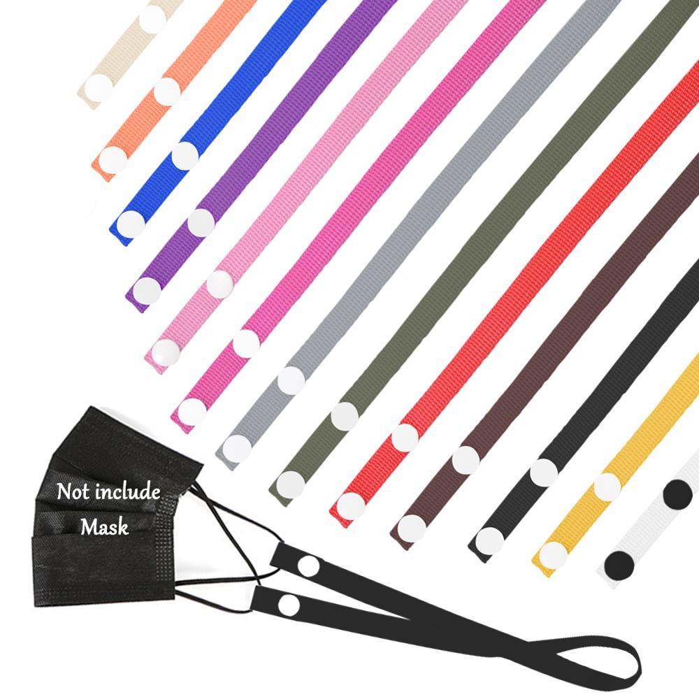 Máscara colorida artefato portátil ajustável pendurar cinta usado para descanso orelha rosto cobre corda clipe bandas no pescoço correia webbing