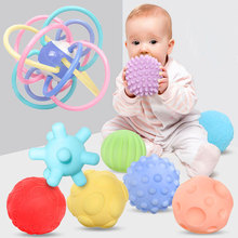 Baby Ball Sensory Toys 0 12 Months Hands Touch Tactile Baby Toys Soft Massage Ball Set Senses Develop Educational Toys For Baby
