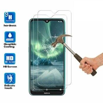 Перейти на Алиэкспресс и купить С уровнем твердости 9H для Nokia 7,2 6,2 4,2 3 V 3,1 C 3,1 2,2 2,3 3,2 4,2 Экран протектор Закаленное Стекло для Nokia 1 плюс X71 чехол