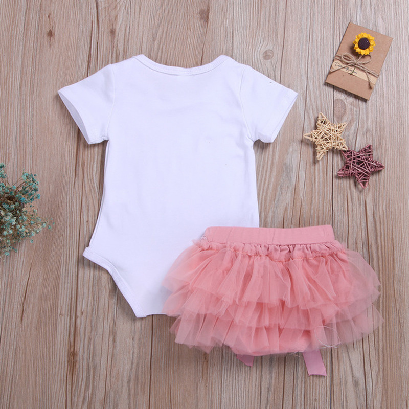 0 24M Newborn Baby Girl Toddler Print Floral Cotton Romper Lace Tutu Skirt Outfits Baby Clothing Newborn Infant Girl Clothes in Clothing Sets from Mother Kids
