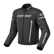 IRONRIDE Motorcycle Jacket Men Windproof Waterproof Moto Motocross Jacket Motorbike Riding Clothing Protective Gear With Linner