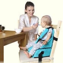 Детская сумка для обеденного стула, детское портативное сиденье, ткань для младенцев, для путешествий, для улицы, складной ремень безопасности, для кормления, стульчик для детей, Подушка для стула