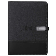 Qi Wireless Charging Note Book Power Bank Notebook MultiFunctional 8000MAh Power