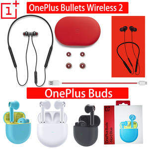 Original OnePlus Buds TWS Bullets Wireless 2 Bluetooth earphones Magnetic Control headset
