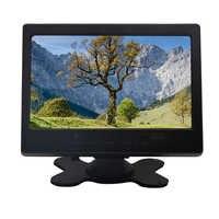 7 pulgadas Mini portátil 1024x600 monitor TFT LCD CCTV monitor de ordenador con AV VGA HDMI entrada Altavoz incorporado y auriculares jack