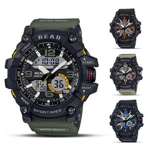 READ relojes deportivos para hombre, reloj Digital impermeable, LED grande Dail Clock hombre 90001 Montre Homme militar grande hombres SmartWatches