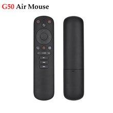 2020 novo g50 mouse de ar google voz microfone giroscópio 2.4g sem fio ir aprendizagem g50s controle remoto para android caixa tv