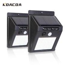 30/100 LEDs zewnętrzna lampa solarna uliczna lampa solarna wodoodporny czujnik ruchu słoneczna dekoracja ogrodowa lampa światła uliczne nocne żarówki