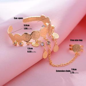 Image 2 - Wando Free Size Kids/Baby/Girls Coin Bracelet Bangles  Baby Islam Muslim Arab Coins Money bracelet Child holiday Hallowee gift