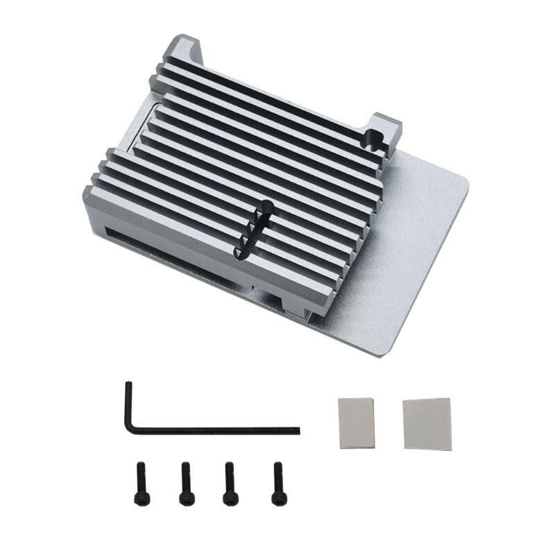 Aluminum Alloy Case Metal Shell Box Enclosure For Raspberry Pi 4 Model B Board