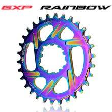 free deliv Fahrrad Kettenblatt rainbow 32 34 36 38t Engen Breite Fahrrad Kettenblatt Fur GXP XX1 XO CNC AL7075 KurbelFahrrad