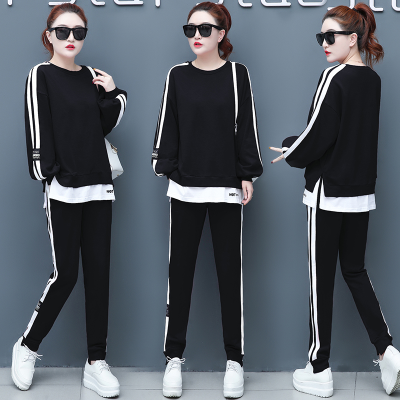 Casual Wear Suits 2019 Piece Set Women Top And Pants Lounge Wear Tracksuits Pink Outfit Korean Long Sleeves Autumn Fashion Fall