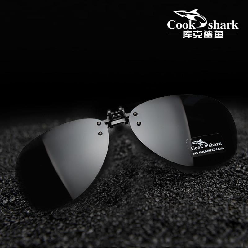 Cook Shark, поляризационные солнцезащитные очки, зажим для вождения, очки для близорукости, солнцезащитные очки для мужчин и женщин, защита от УФ лучей|Мужские солнцезащитные очки|   | АлиЭкспресс