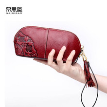 цены NAISIBAO 2019 New luxury women genuine leather bags fashion Superior cowhide women wallets clutch bag women leather wallets