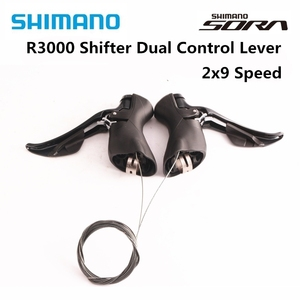 SHIMANO SORA ST R3000 Dual Control Lever 2x9 3x9 Speed ST R3000 Derailleur Road BIKE R3000 Shifter 18 speed(China)