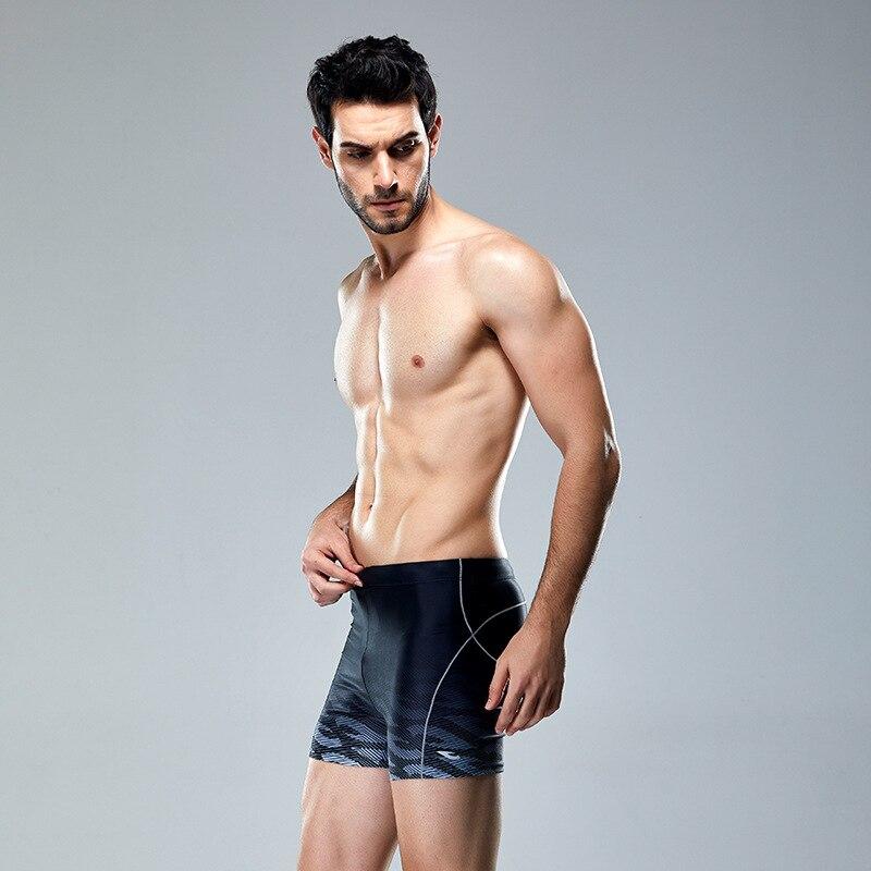 MEN'S Swimming Trunks Industry Swimming Trunks 2019 Elasticity Boxer Sports Anti-Chlorine New Style Chinlon Gradient