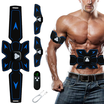 EMS Electric Abdominal Muscle Stimulator USB Rechargeable Remote Control ABS Smart Fitness Abdominal Arm Body Slimming Massage 1