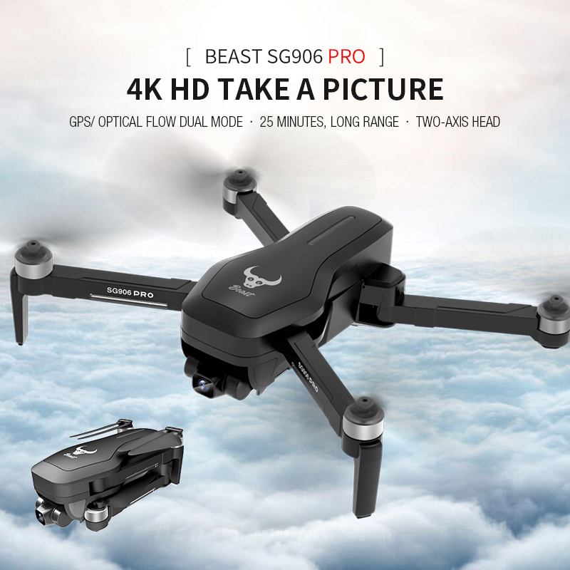 SG906   SG906 Pro 2 GPS Drone Wifi FPV 4K Camera Three-axis Anti-shake Gimbal Brushless Professional Quadcopter 1200KM Drones