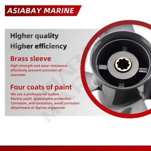 Подвесной Пропеллер для Honda 8hp 9.9hp 10hp 15hp 20hp 9 1/4*10 лодочный двигатель 4 лопасти Алюминиевый винт 8 лопастей деталь морского двигателя