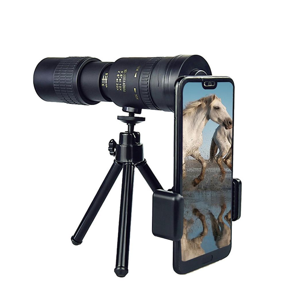 Монокулярный телескоп 4K 10-300x40 мм с супертелеобъективом, портативный Spyglass зум, высококачественный инструмент для охоты, путешествий, заняти...