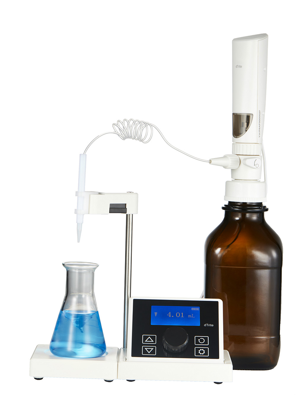 Electronic Titrator DTrite Digital Burette 0.01-99.99ml Bottle-top Titration Combined Magnetic Stirrer & Titrator Functions