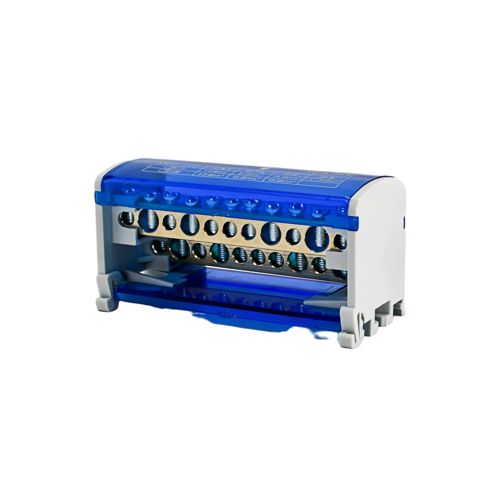 Din Rail Terminal Block Distribution Block Box WKH211 Modular Screw Connection Power Universal Electric Wire Junction Box