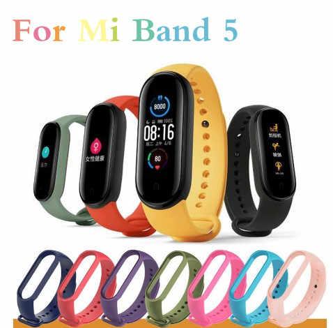 Voor Xiaomi Mi Band 5 Vervangbare Armband Mi Band Band5 4 Corea Polsbandje Ademend Armband Voor Xiomi Miband 3 4 5