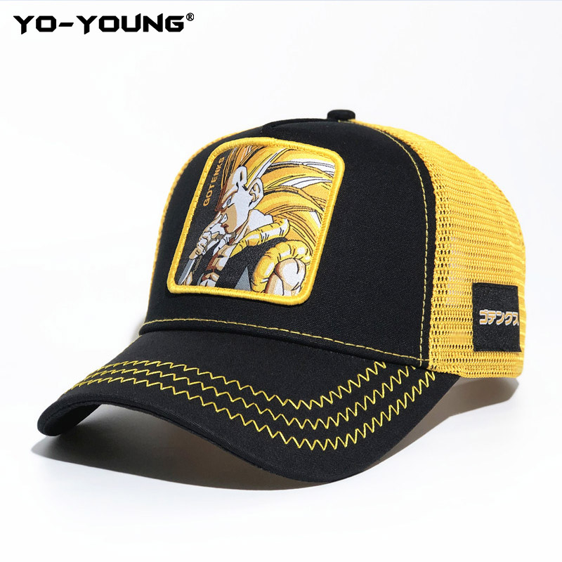 Yo-Young Baseball Caps Quality Dragon Balls Caps For Male Female Gorra Goku Kids Snapback Caps For Adult Sun Hat 53-59 Cm
